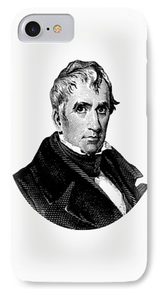 President William Henry Harrison Graphic IPhone Case by War Is Hell Store
