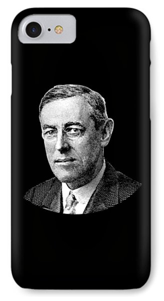 President Woodrow Wilson Graphic IPhone Case by War Is Hell Store