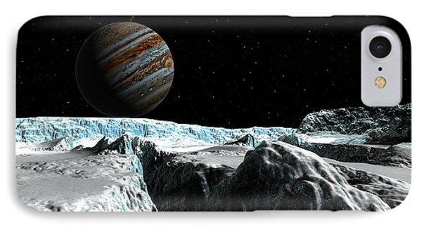 Pressure Ridge On Europa IPhone Case by David Robinson