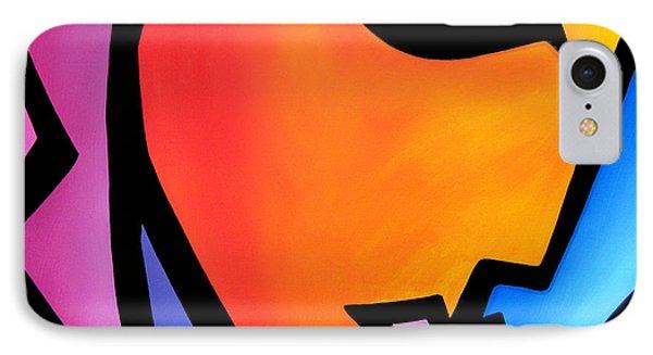 Pretending - Original Pop Art IPhone Case by Tom Fedro - Fidostudio