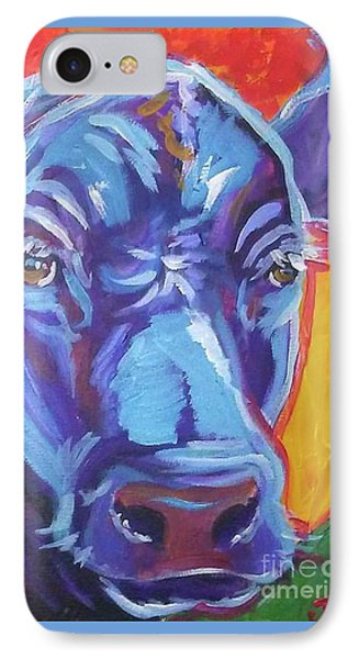 Pretty Face Cow IPhone Case by Jenn Cunningham