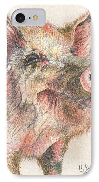 Pretty Imporkant Pig Phone Case by Chris Bajon Jones