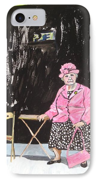 IPhone Case featuring the painting Pretty In Pink by Esther Newman-Cohen