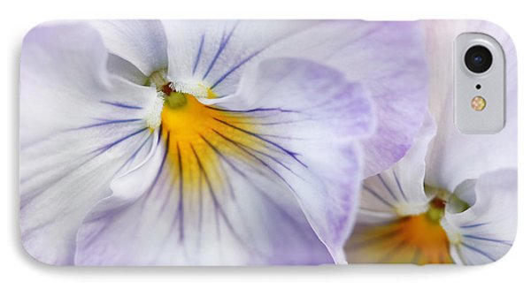 Pretty Pansy Flowers Phone Case by Jennie Marie Schell