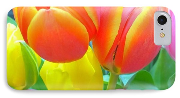 Pretty #spring #tulips Make Me Smile IPhone Case by Shari Warren