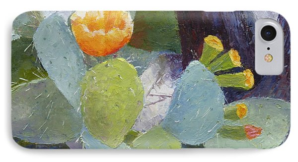 Prickly Pear In Bloom IPhone Case by Susan Woodward