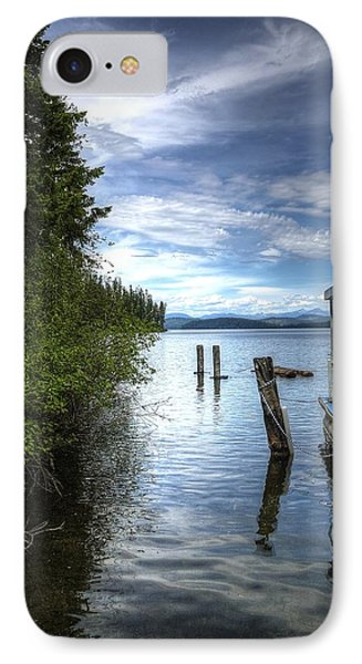 Priest Lake Houseboat 7001 IPhone Case by Jerry Sodorff