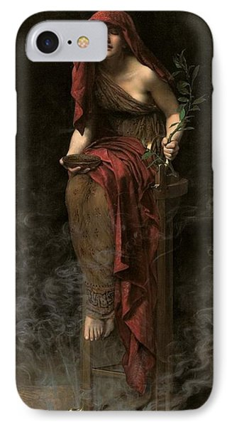 Priestess Of Delphi IPhone Case by John Collier
