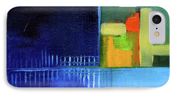 IPhone Case featuring the painting Primary Blue Abstract by Nancy Merkle