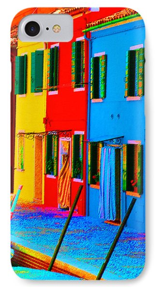 IPhone Case featuring the photograph Primary Colors Of Burano by Donna Corless