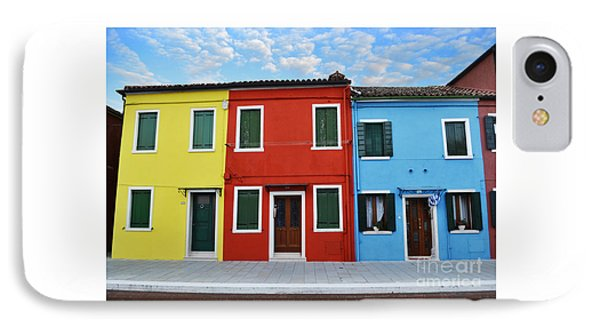 Primary Colors Too Burano Italy IPhone Case by Rebecca Margraf
