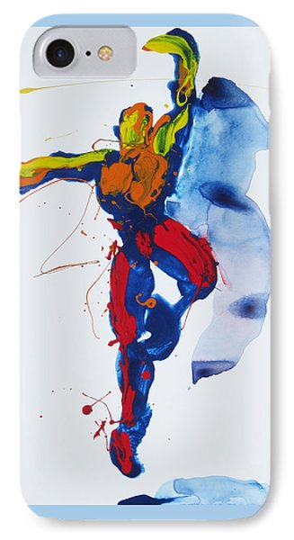 IPhone Case featuring the painting Primary Vertical Jump Shadow by Shungaboy X