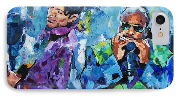IPhone Case featuring the painting Prince And Stevie by Richard Day