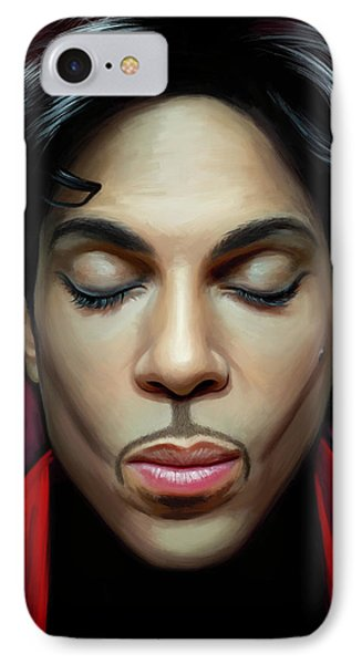 IPhone Case featuring the painting Prince Artwork 2 by Sheraz A