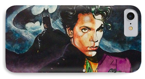 IPhone Case featuring the painting  Prince Batdance by Darryl Matthews