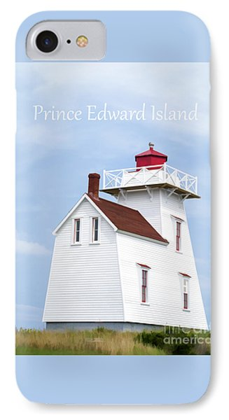 Prince Edward Island Lighthouse Poster IPhone Case by Edward Fielding