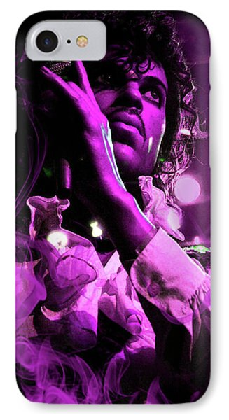 Prince In Concert IPhone Case by Solomon Barroa