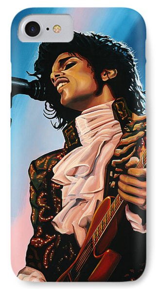 Musicians iPhone 7 Case - Prince Painting by Paul Meijering