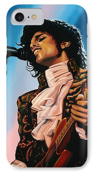 Prince Painting IPhone 7 Case by Paul Meijering