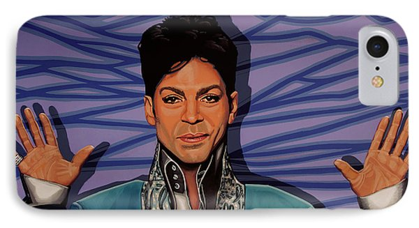 Rhythm And Blues iPhone 7 Case - Prince 2 by Paul Meijering