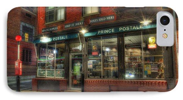 Prince Postale - Prince Street - North End - Boston IPhone Case by Joann Vitali
