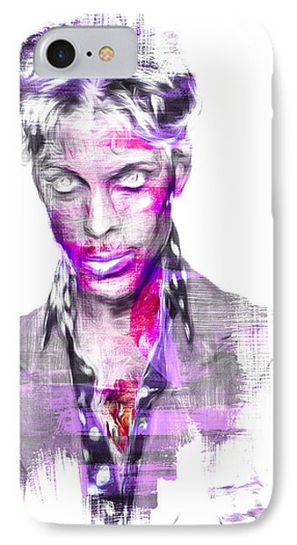 Prince Rogers Nelson Digital Painting Musician IPhone Case by David Haskett