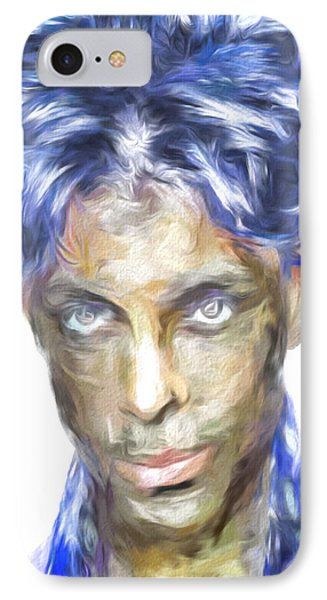 Prince Rogers Nelson Digital Painting Portrait IPhone Case by David Haskett