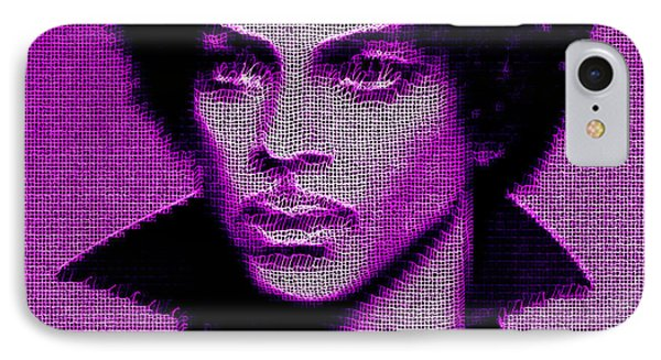 Prince - Tribute In Purple IPhone Case by Rafael Salazar