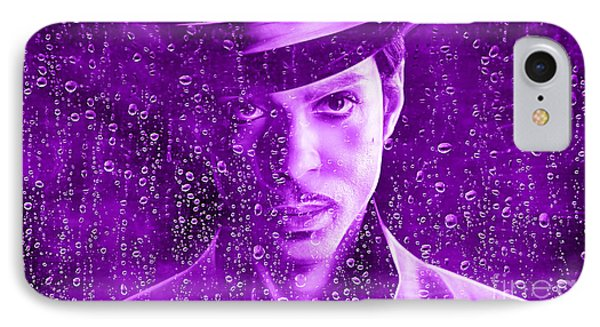 Prince Tribute Purple Rain IPhone Case by Marvin Blaine
