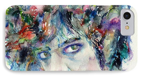 Prince - Watercolor Portrait IPhone Case by Fabrizio Cassetta
