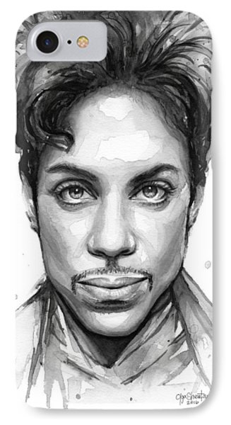 Dove iPhone 7 Case - Prince Watercolor Portrait by Olga Shvartsur