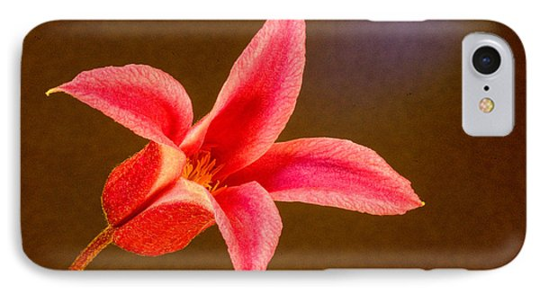 Princess Diana Clematis Lateral Aspect IPhone Case by Douglas Barnett