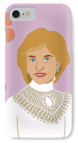 Princess Diana IPhone Case by Nicole Wilson