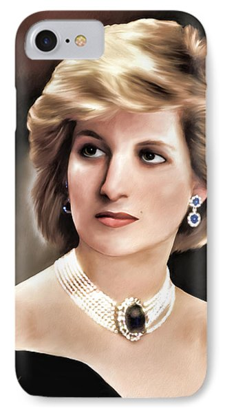 IPhone Case featuring the digital art Princess Diana by Pennie  McCracken