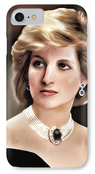 Princess Diana IPhone Case by Pennie  McCracken