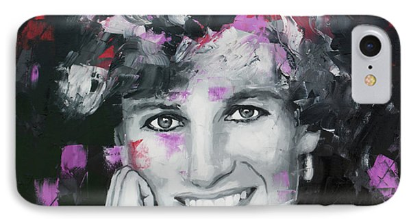 IPhone Case featuring the painting Princess Diana by Richard Day