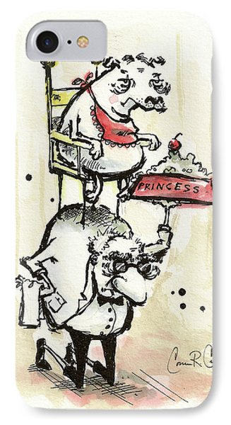 Princess The Alpha Male In Dinner Is Served IPhone Case by Connor Reed Crank
