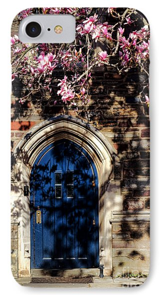 Princeton University Door And Magnolia IPhone Case by Olivier Le Queinec