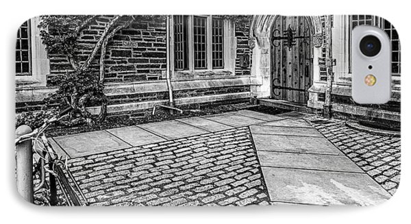 IPhone Case featuring the photograph Princeton University Foulke Hall Bw by Susan Candelario