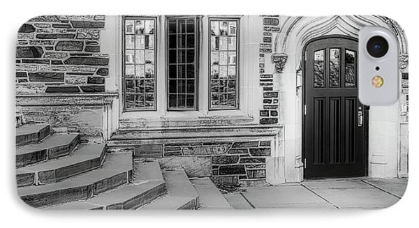 IPhone Case featuring the photograph Princeton University Lockhart Hall Bw by Susan Candelario