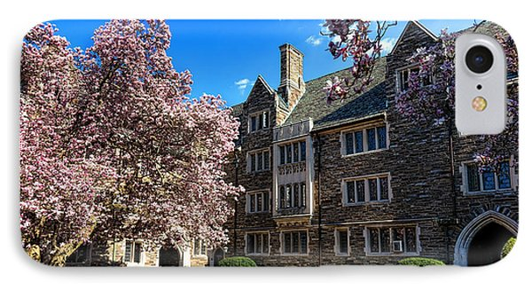 Princeton University Pyne Hall Courtyard IPhone Case by Olivier Le Queinec