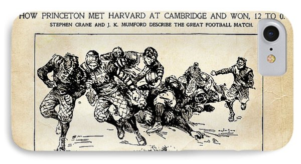 IPhone Case featuring the mixed media Princeton Vs Harvard - New York Journal 1896 by Daniel Hagerman