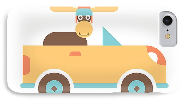 Moose Road Trip IPhone Case by Mitch Frey
