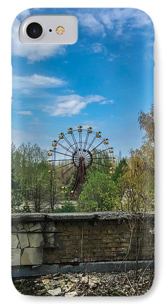 IPhone Case featuring the photograph Pripyat Ferris Wheel In Chernobyl by Chris Feichtner