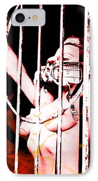 IPhone Case featuring the painting Prisoner by Tbone Oliver