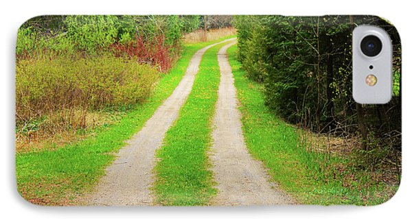 Private Farm Road IPhone Case by Anthony Djordjevic