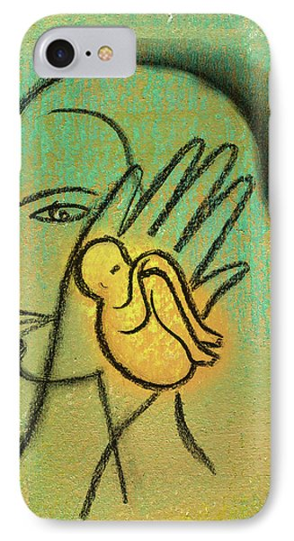 IPhone Case featuring the painting Pro Abortion Or Pro Choice? by Leon Zernitsky