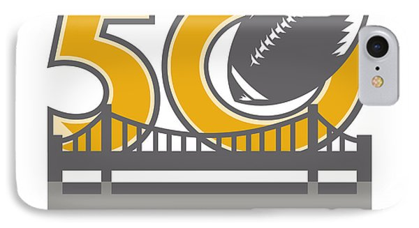 Pro Football Championship 50 Ball Bridge IPhone Case by Aloysius Patrimonio