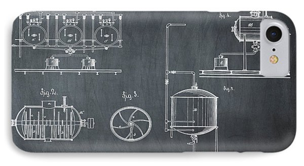Process Of Brewing Patent 1885 In Chalk IPhone Case