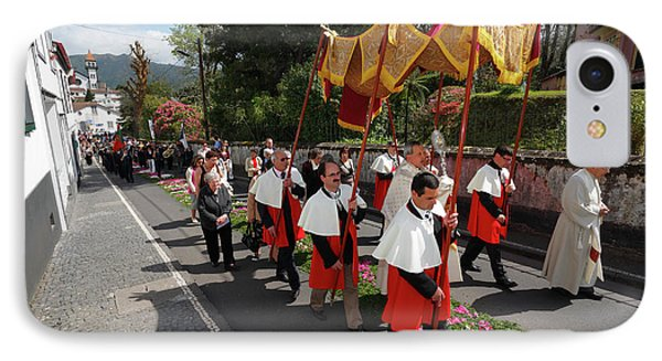 Procession In Azores Islands Phone Case by Gaspar Avila